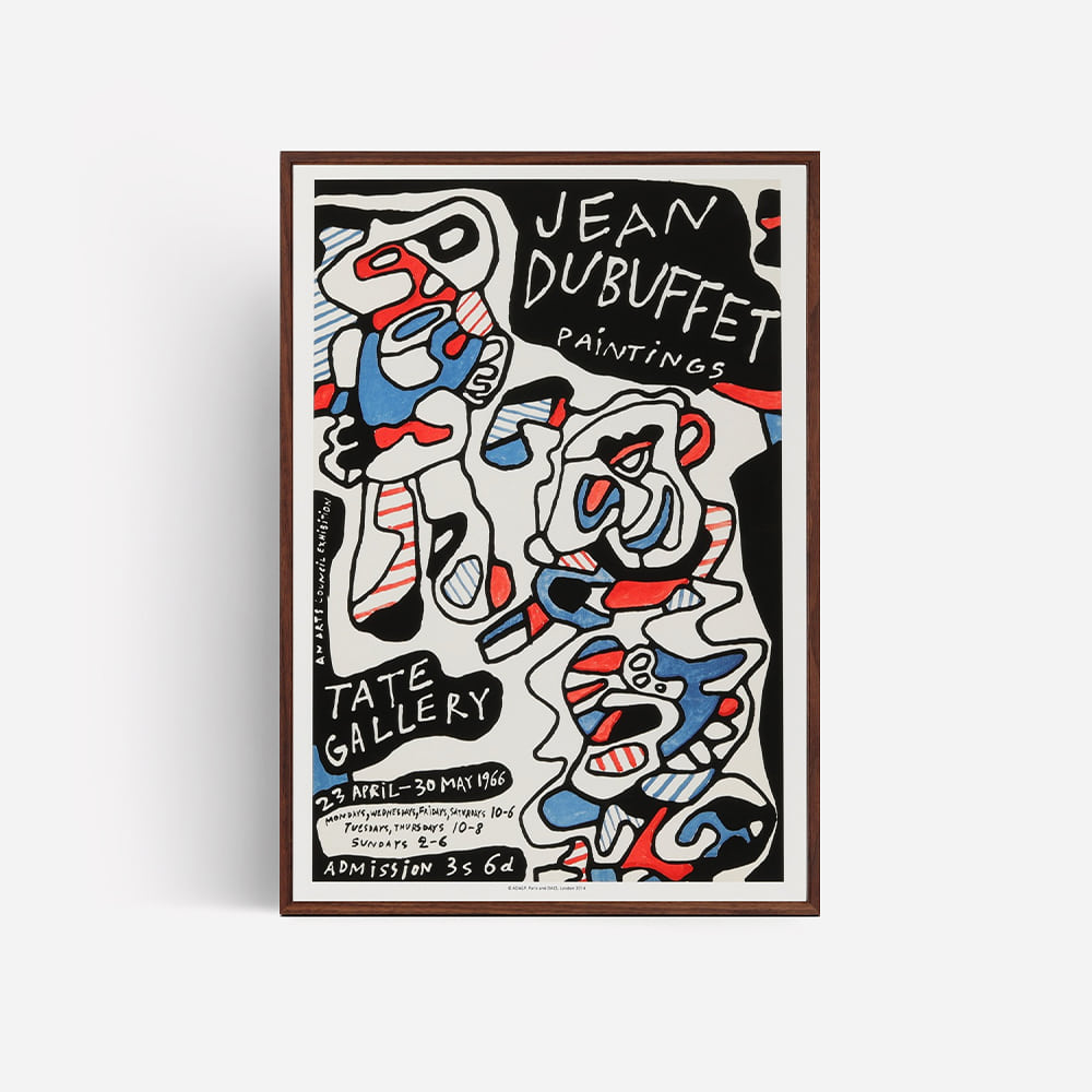 [JEAN DUBUFFET] Paintings Vintage Poster,1966