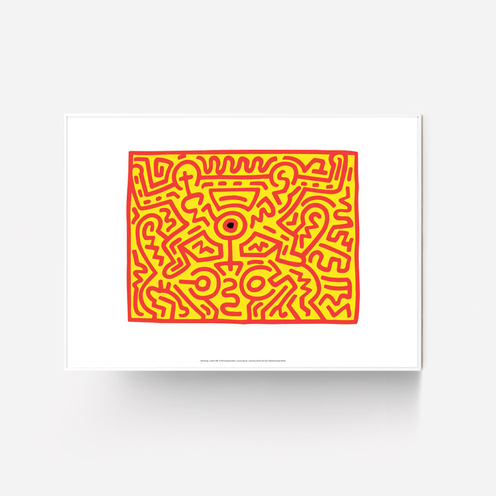 [KEITH HARING] Growing 3 Exhibition Poster, 1988
