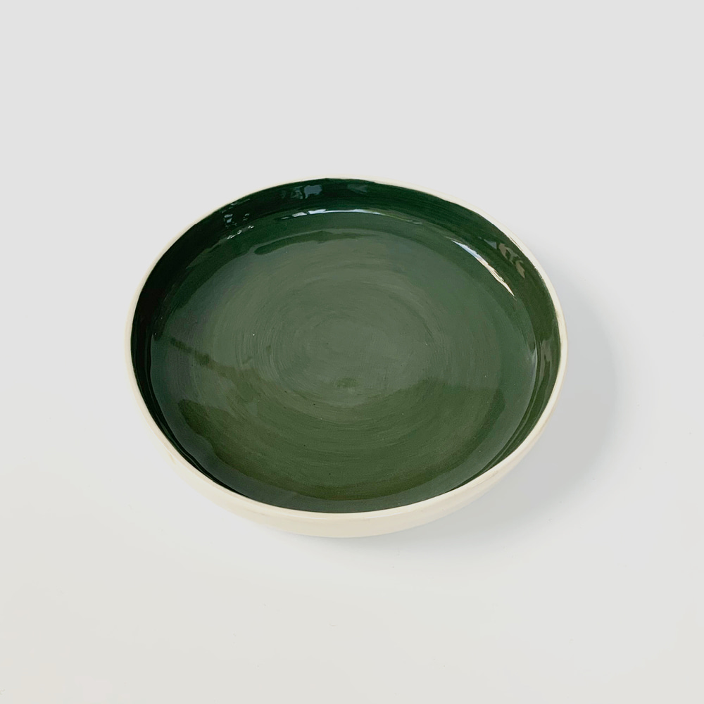 [ABS OBJECTS] Large Plate_Dark Green